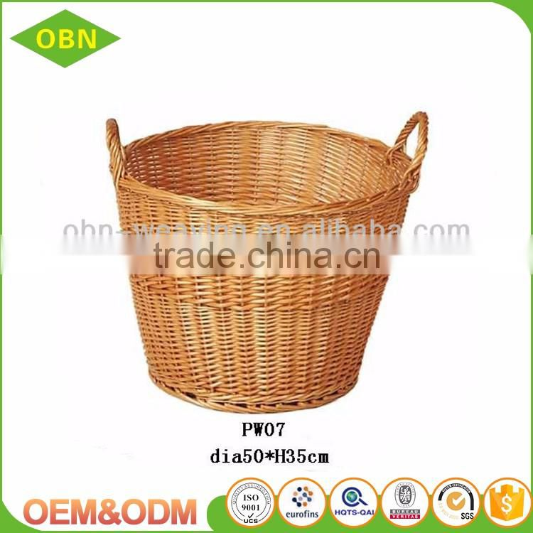 Large cheap dirty clothes wicker laundry basket