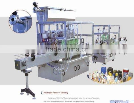 automatic single line shampoo filler and capper