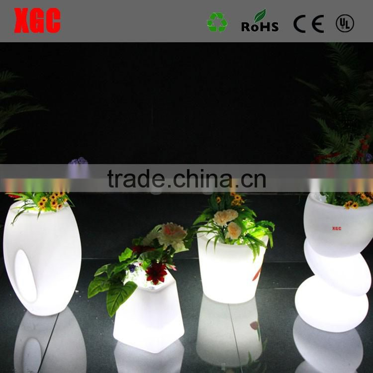 light up big outdoor flower pots, planter flower pot GD113