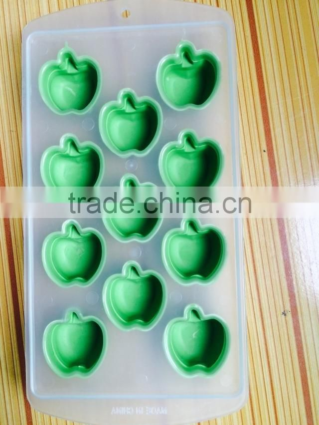 2015 fruit design food safety Factory wholeseler 12 holes Silicone Ice Tray