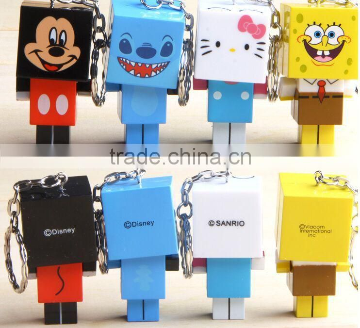 square shaped pvc keychain creative style pvc keychain free samples plastic keychian factory in china