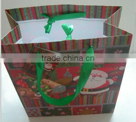 Hot selling Christmas paper gift bag
