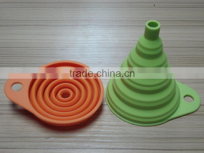 FDA food grade standard silicone material collapsible funnel