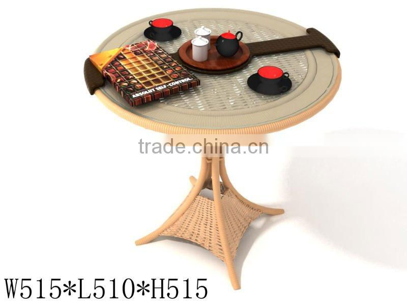 rattan coffee table and chair or leisure wicker dining furniture