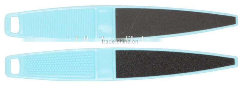 Sandpaper foot file,Pointed File,foot file with plastic handle