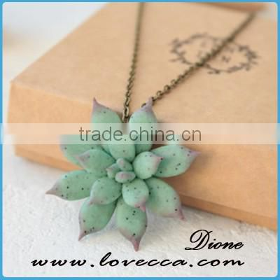 Can Custom Polymer clay succulent jewelry Miniature Plant Wedding Succulent Jewelry