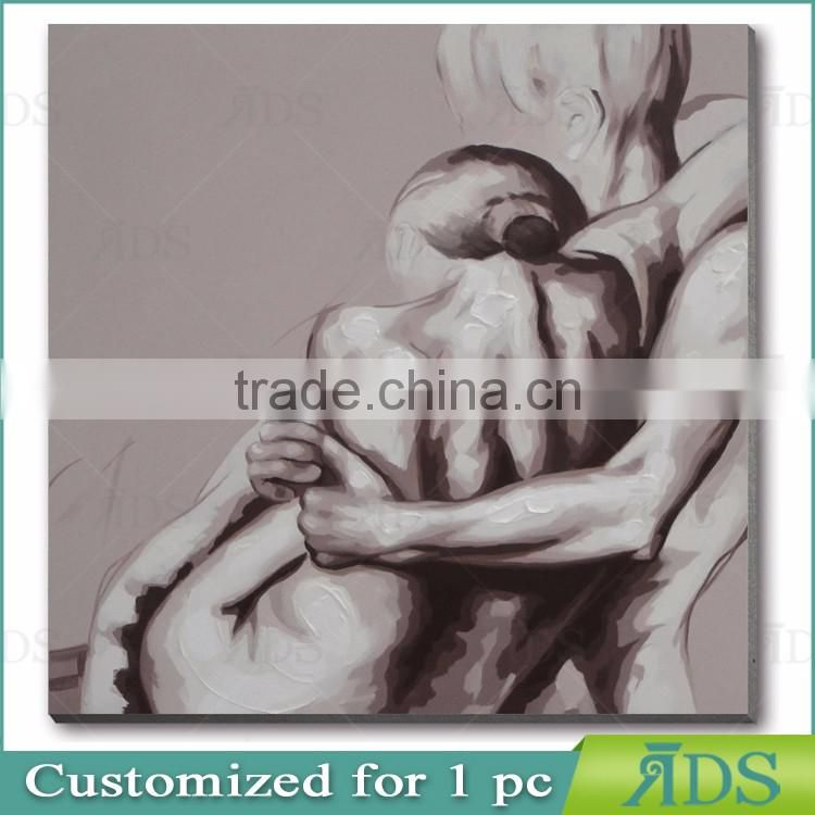 Handmade Modern Couples Nude Sexy Canvas Oil Painting