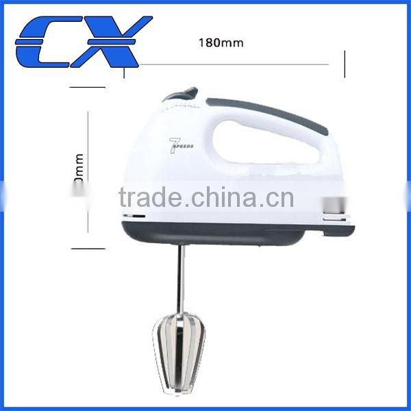 China Guangdong Electrical Appliances 100W 7 Speed Mini Hand mixer With Dough Hooks