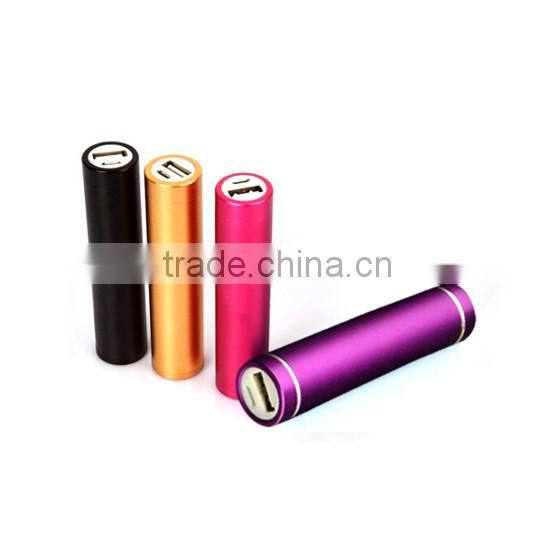 Hot Selling Cheapest 2600mAh Cylinder Power Bank, Round Mobile Power