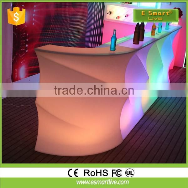 LED bar counter design Led Lighted Wet Bar Counter Outdoor Led Sofa & Led Furniture