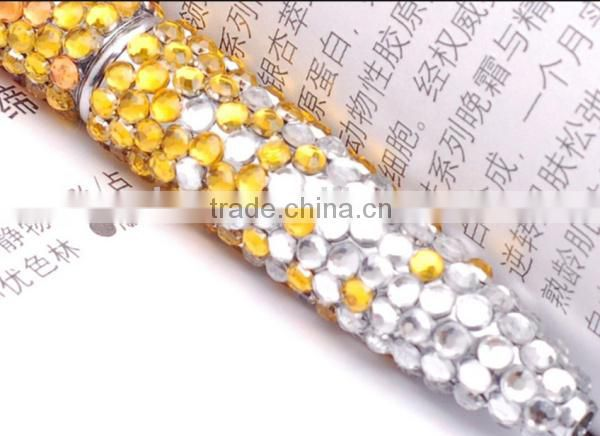 Three color gradient promotion crystal cord pen