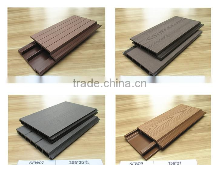 Outdoor waterproof Wood Plastic Composite wallboard