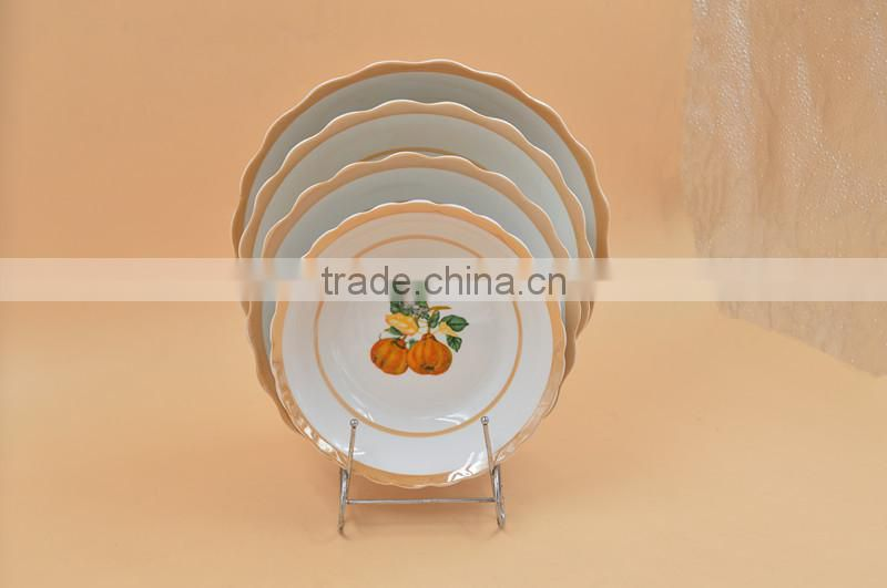silver rim ceramic dinner plate tableware