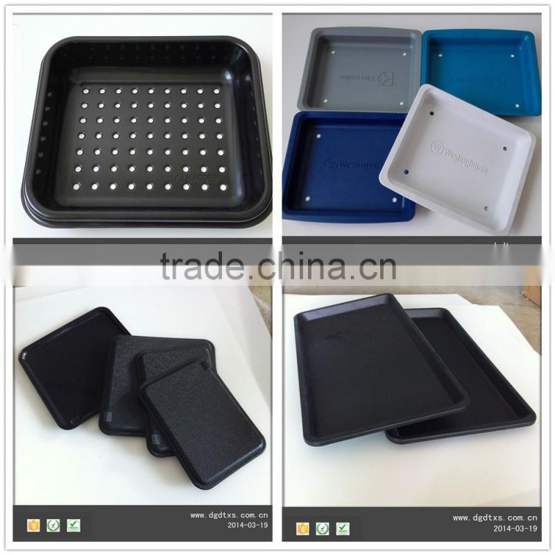 plastic unti-static ps black thermforming thick tray for electrical