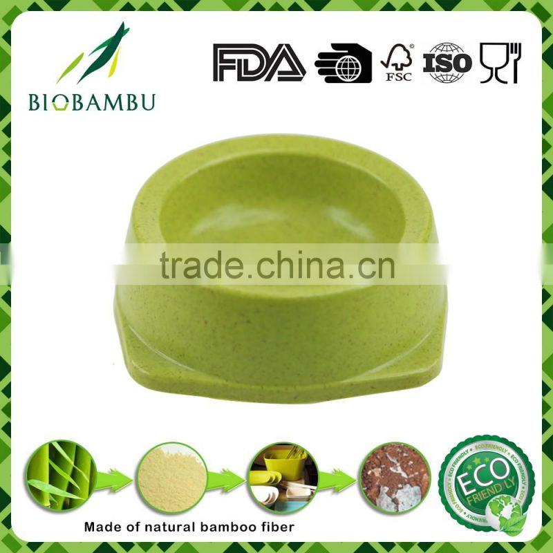 No pollution FDA certificated China manufacturer bamboo fiber dog bowl