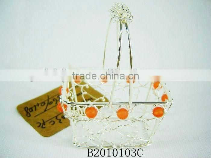 Silver Metal Chirstmas Decorative gift baskets