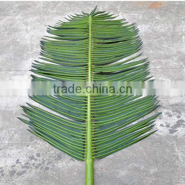 wholesale high quality plastic artificial palm tree leaves