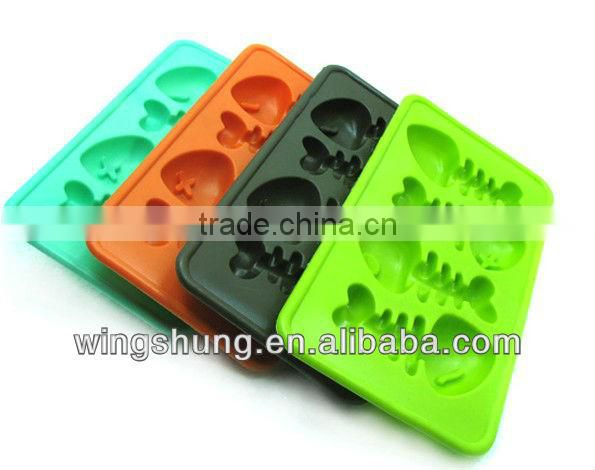 Fish muffin case silicone ice mould mold baking pan tray ice freeze party drink mould jelly mold cube maker