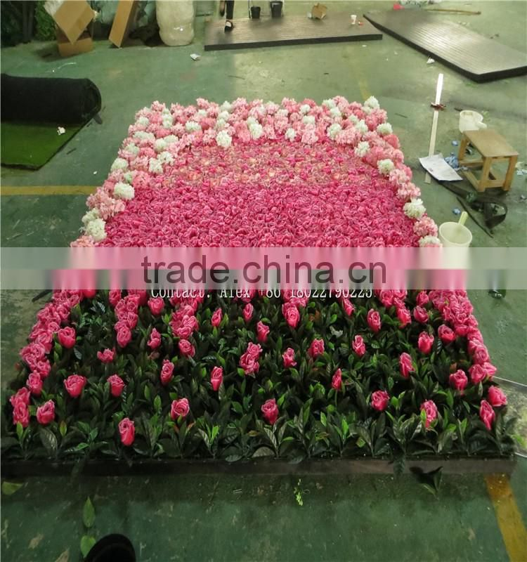 SJ0060035 2017 Hot sale silk flower wall for weeding decoration