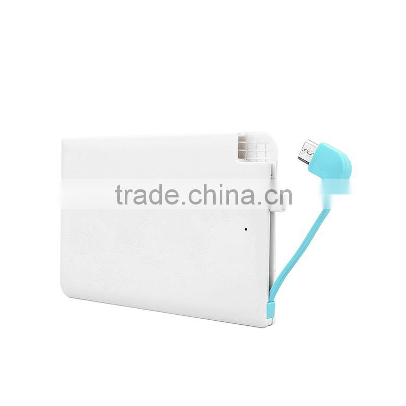 Hot Selling Wallet power pack charger slim credict card power bank