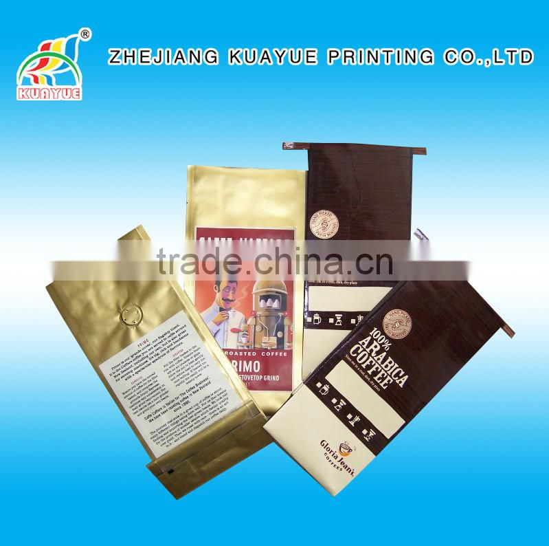 Customized Customized Tin Tie Coffee Bag with Valve