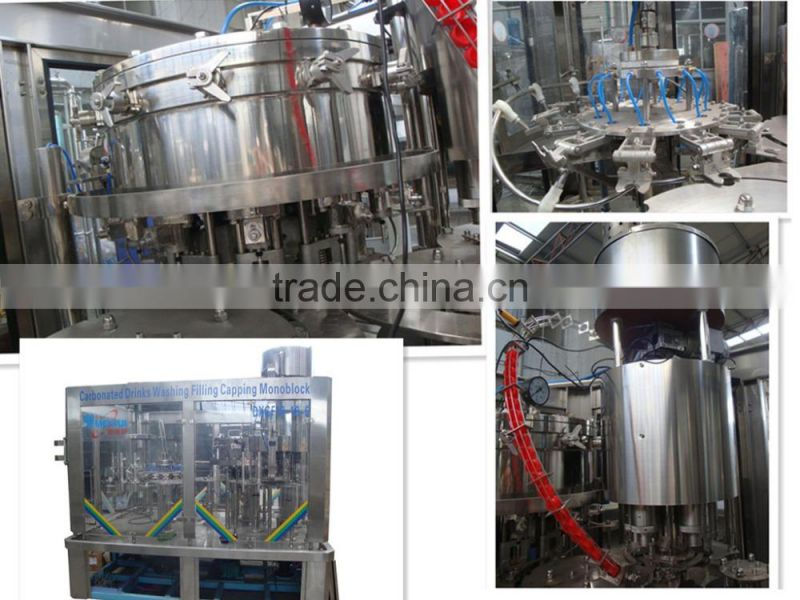 3-in-1 Automatic plastic bottle soft drink or carbonated beverage filling machine