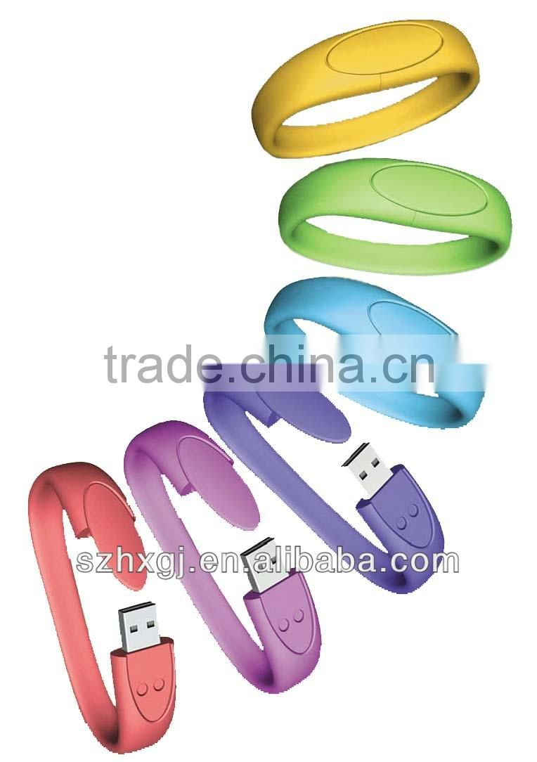 Big discount!! 1GB 2GB 4GB 8GB 16GB 32GB USB Bracelet, waterproof USB with free logo