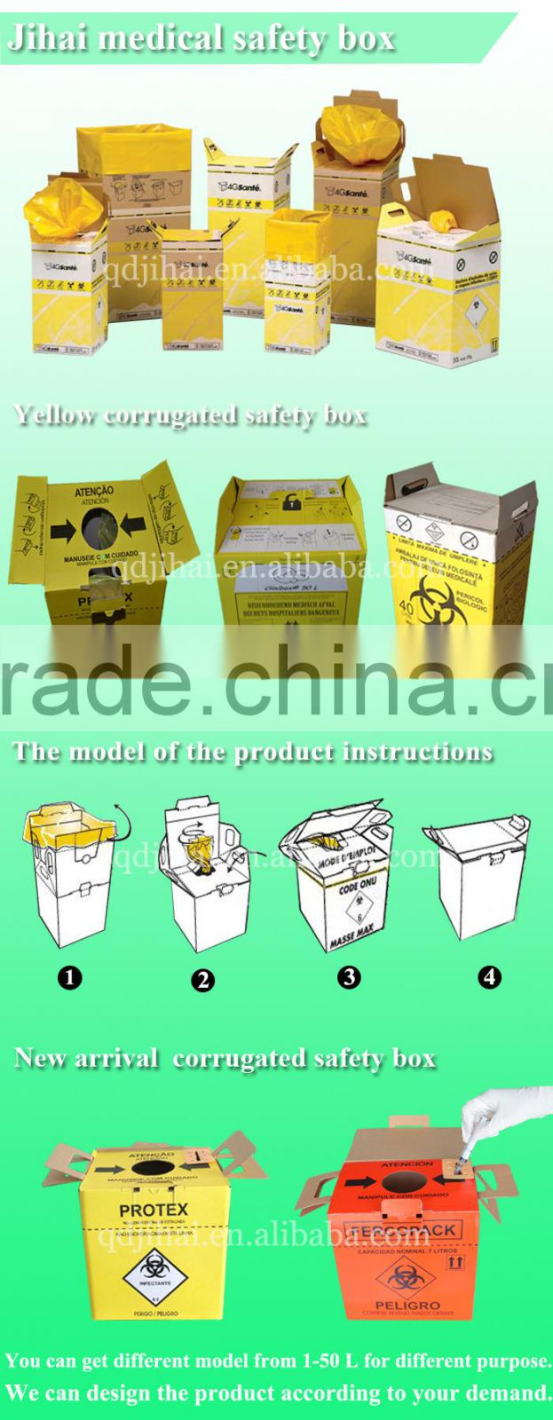 import export company names waste paper box for syringes and needles