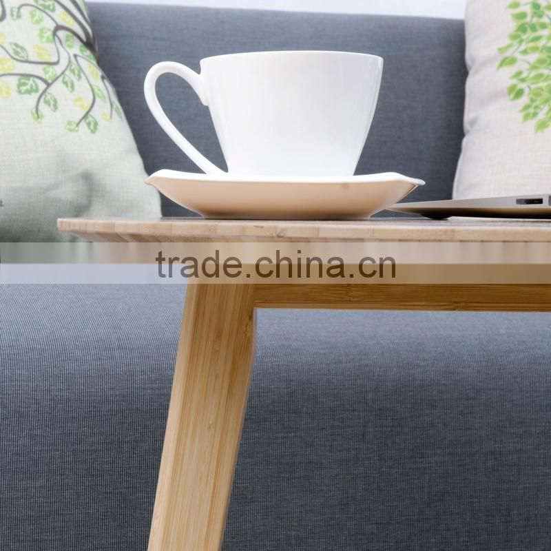 Living room collection natural MDF top solid bamboo coffee table