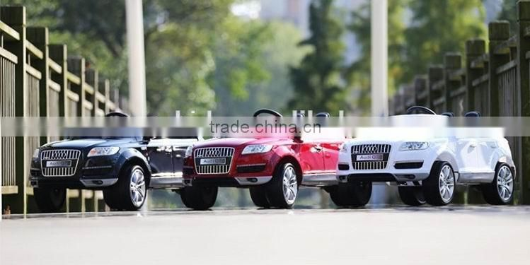 Licensed AUDI Q7 ride on car 12v 2 seat remote control ride on car Two Seats Kids Ride On Cars
