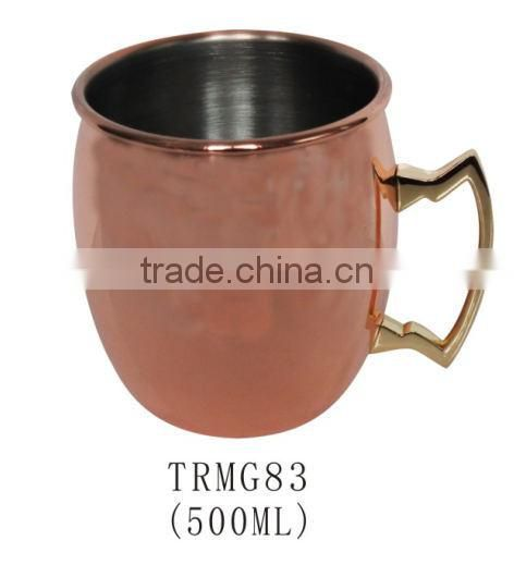 500ml Copper plated stainless steel Moscow Mule beer mug