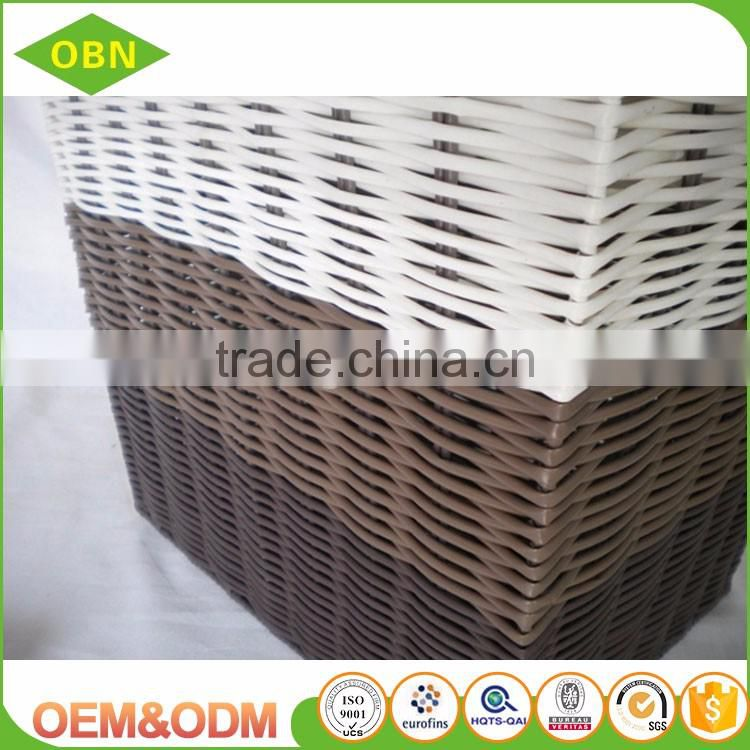 Excellent quality customized cheap colored plastic woven basket of dirty laundry