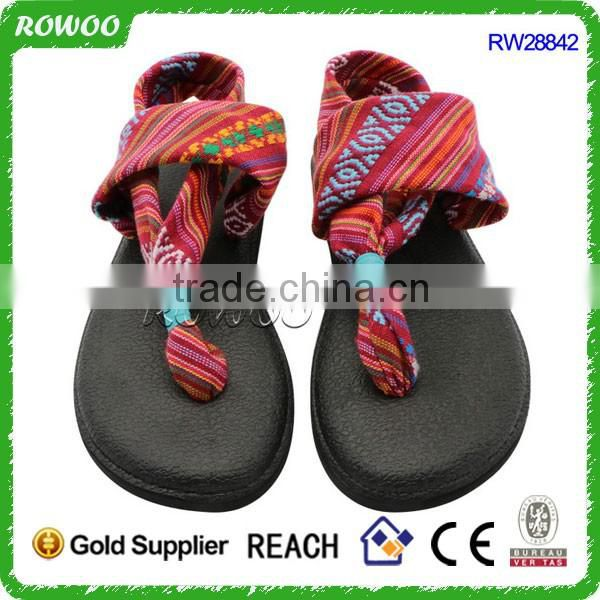 Sling Back Thong Sandals Prints Flip Flop Flat Thong Yoga Sandals