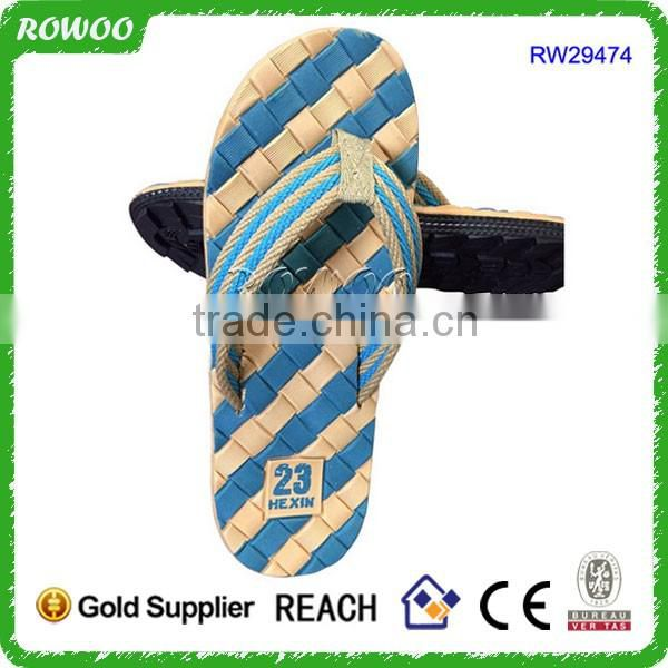 Newest Design Fancy Eva PVC Sandal Men Brand Name Slipper