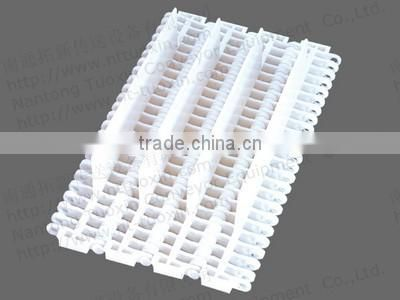 900 Flush Grid 27.2mm Pitch Plastic Conveyor Belt with Base Flights