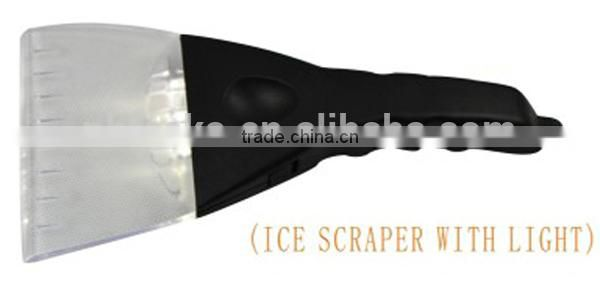 Assorted Promotional Winter Ice Scrapers with led light for Cars and Refrigerator