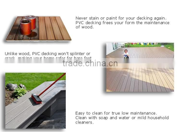 Waterproof Skidproof 100% Pvc/Plastic/Vinyl Outdoor Decking