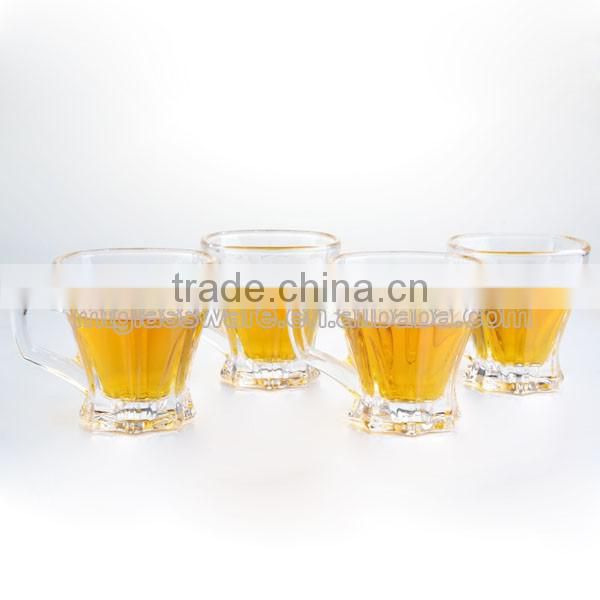 2016 summer style glass cup with handle