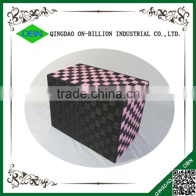 Large handmade cheap nylon woven storage box for home