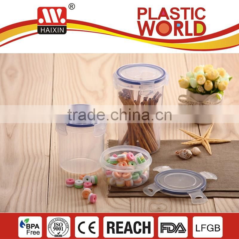 3L airtight plastic food storage box with seal ring