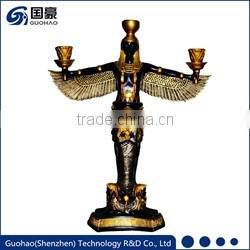 Ancient Egyption gold antique statues candlestick