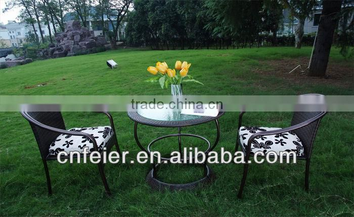 A6002CH Outdoor Rattan Furniture Recycled Timber Dining Set