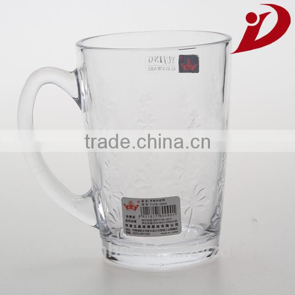 2014 new style fashion glass cup imprinted and frosted glass cup