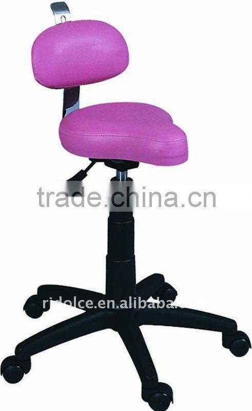 Potable movable Ottoman stool chair saddle chair with wheels used salon furniture F-E20B