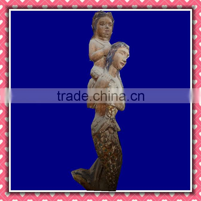 Archaistic Wood Carving Wooden Sculpture