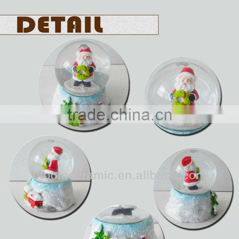 Custom decorative christmas water globe