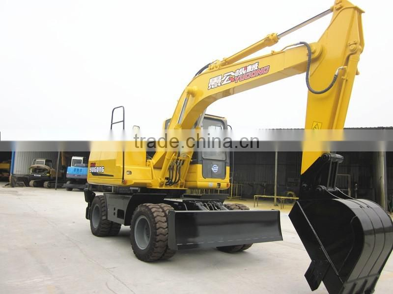 Heavy duty wheel type small Excavator 12ton