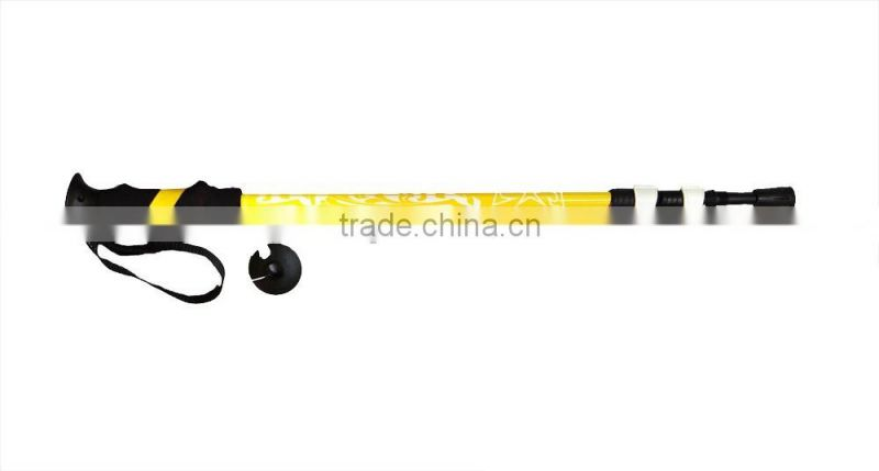 Aluminum light trekking pole with external lock, EVA grip, yellow SZ15515