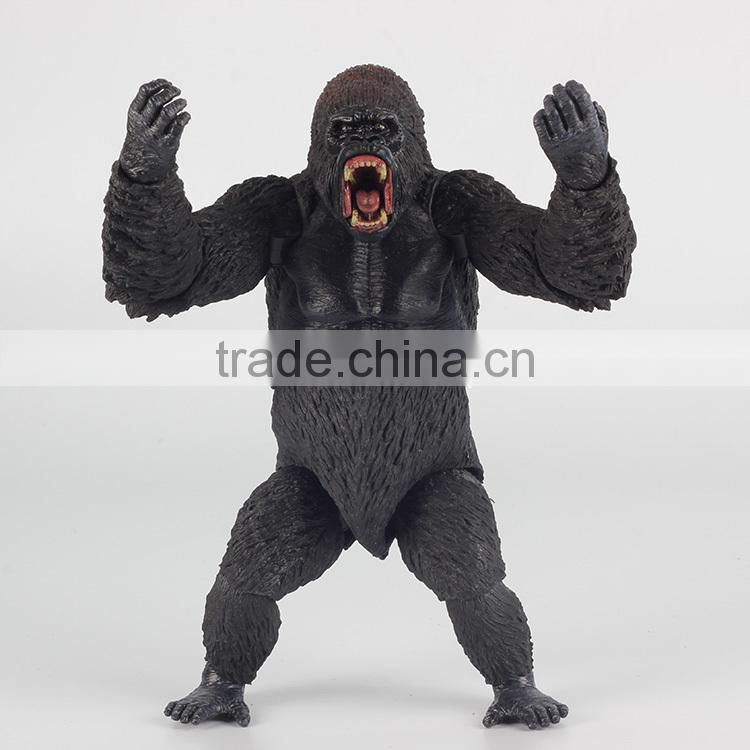 articulated joints movable action figure, 3D Gorila movable action figure, lifelike animal custom movable action figure