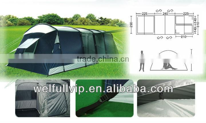 Big capacity outdoor winter party works tent with two bedrooms for 8 person